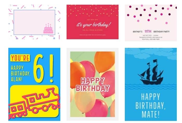 best online birthday ecard maker - Adobe Spark