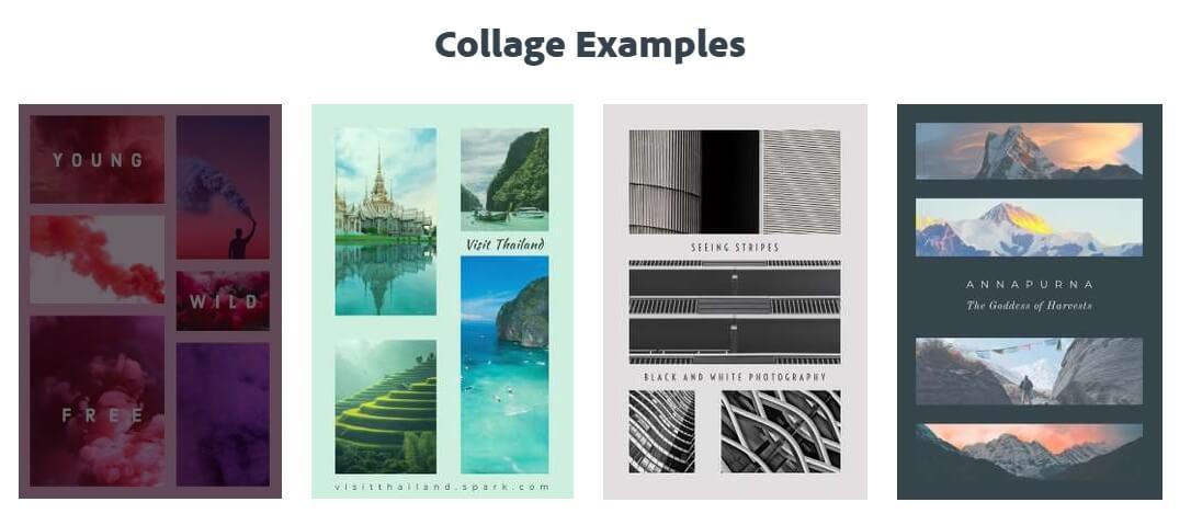 Adobe Spark online Foto-Kollagen-Ersteller