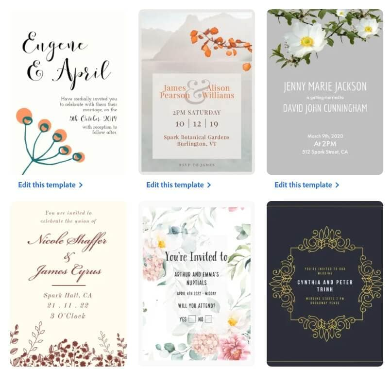 Adobe Spark Wedding Invitation Video Editing