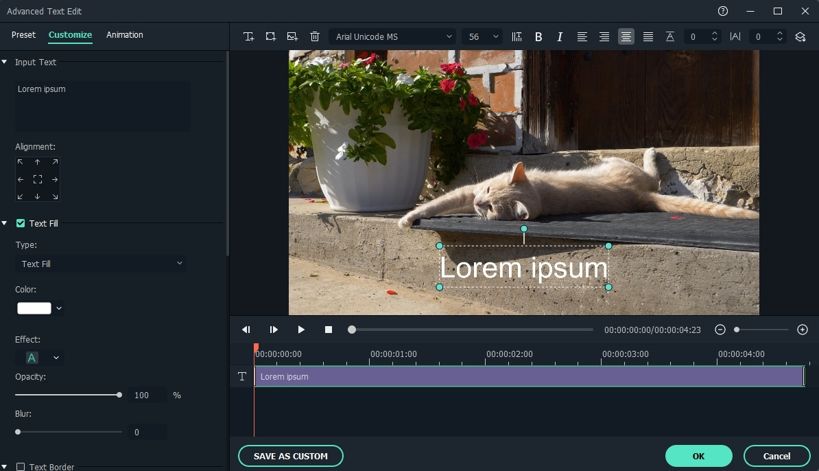 Filmora9 how to add text to a video