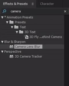 How to Create a Fake Camera Blur in AE?