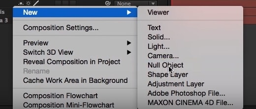 After Effects Null Objects
