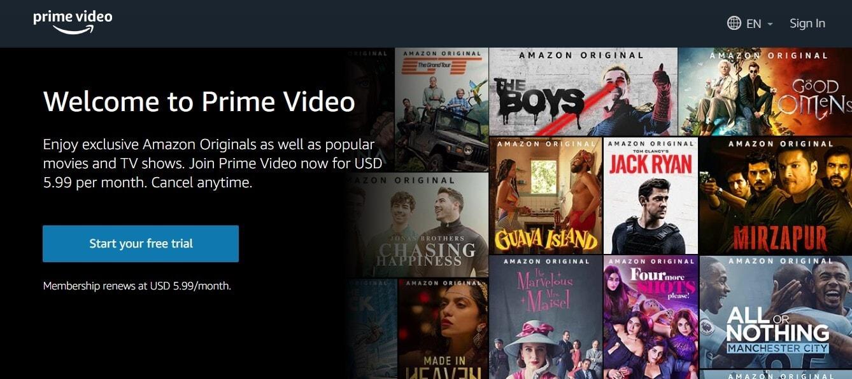 Amazon Prime Web Series Site
