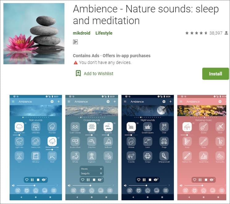 Ambience & Nature  Sounds App