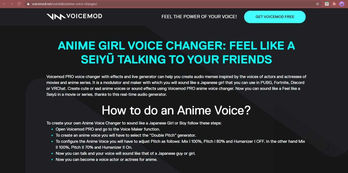 Anime voice changer - vicemod