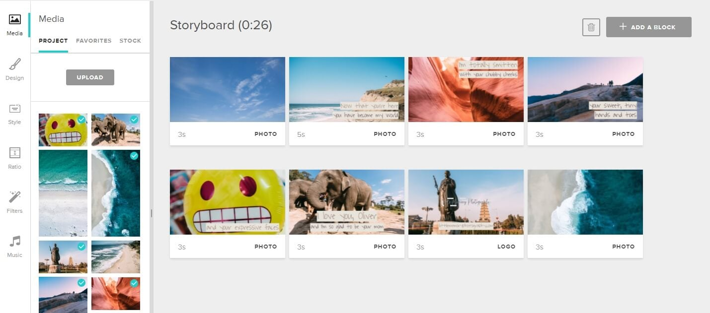 Animoto slideshow maker
