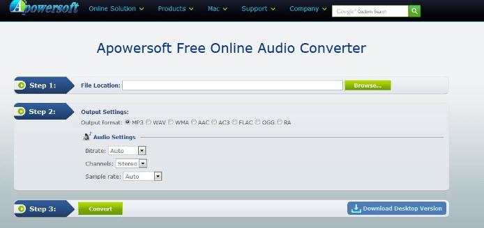 Apowersoft Free Online Audio Converter