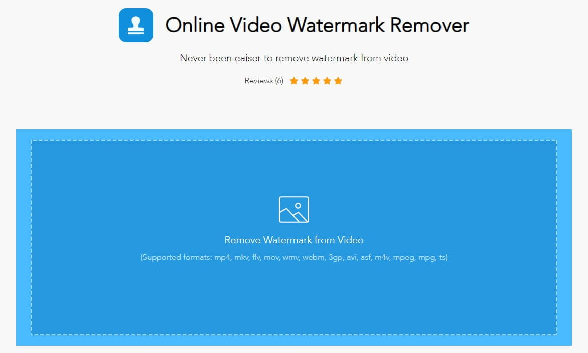 Remove Watermark in video online  with Apowersoft