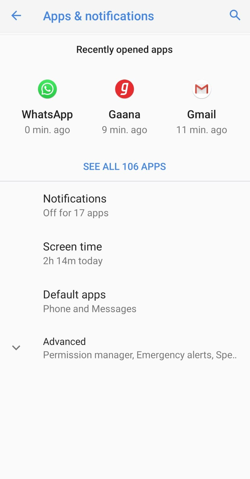 apps and notifications