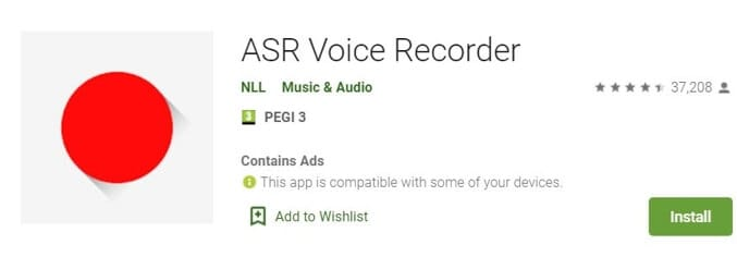 Vocie Recorder App for Android - ASR Voice Recorder