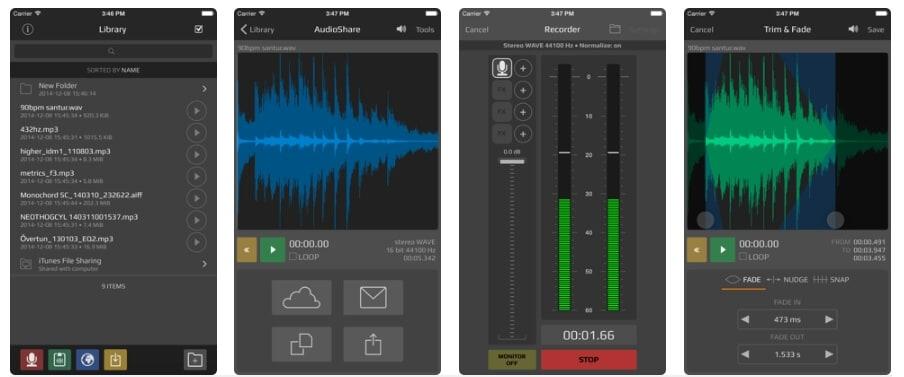 AudioShare Voice Recording  App