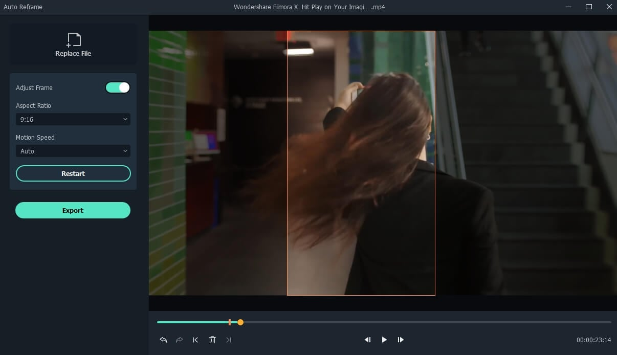 Filmora  Auto-Reframe YouTube video to IGTV