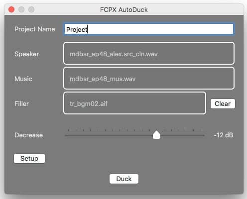 FCPX AutoDuck Process