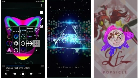 Avee Music Player  app for Music Visualization