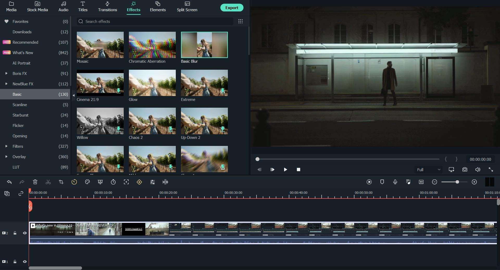 add background blur in 9:16 cropped video