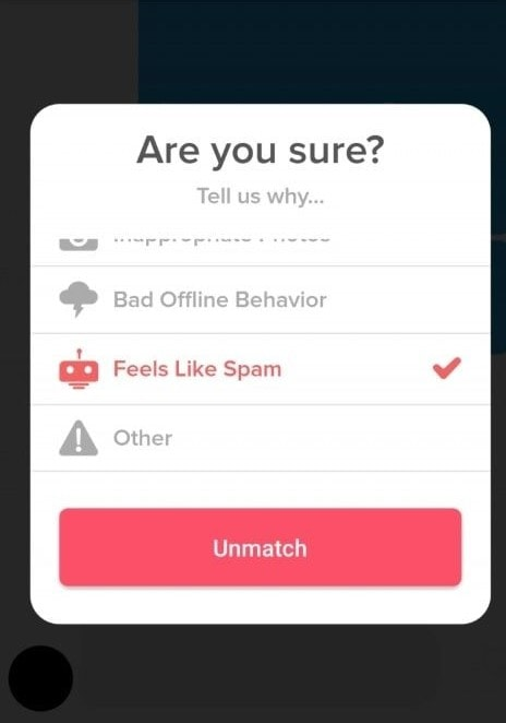 Banned From Tinder Spam