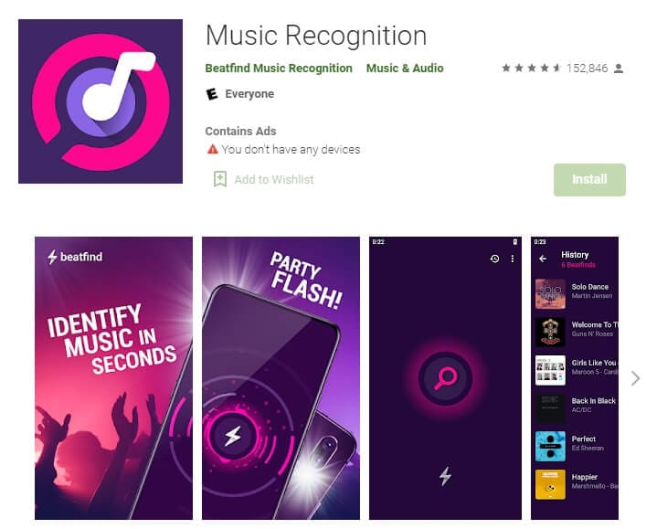 BeatFind Music Recognition for Android
