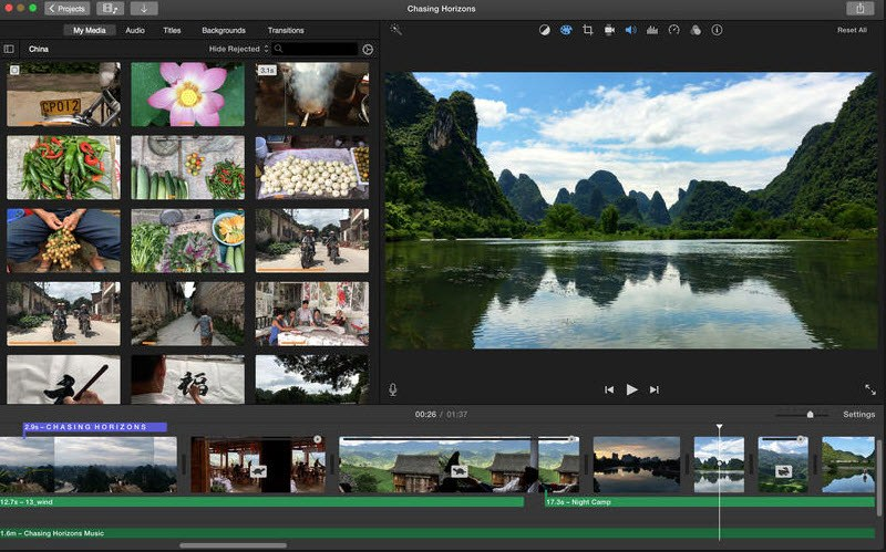 iMovie gopro video editor