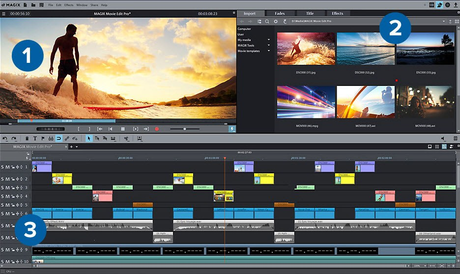 magix gopro video editor