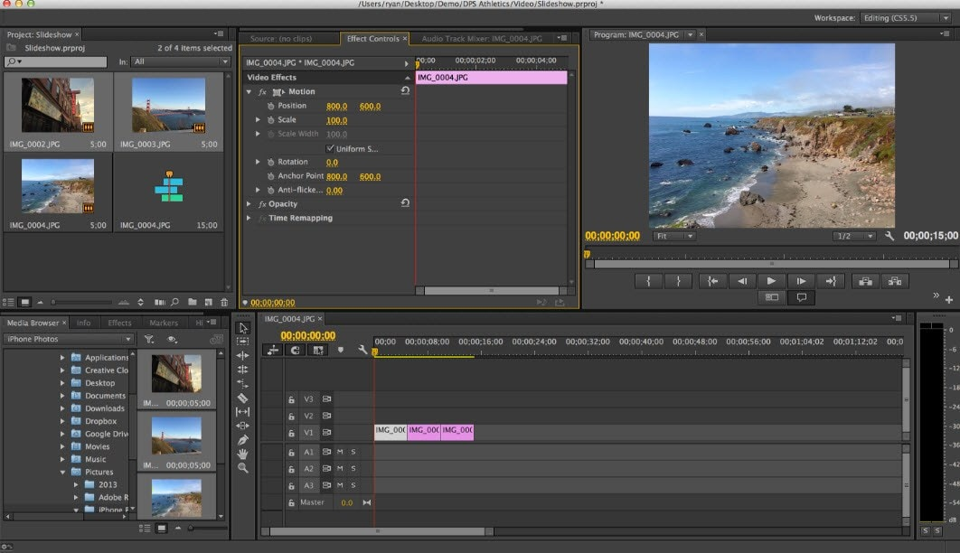 adobe premiere pro gopro editing software