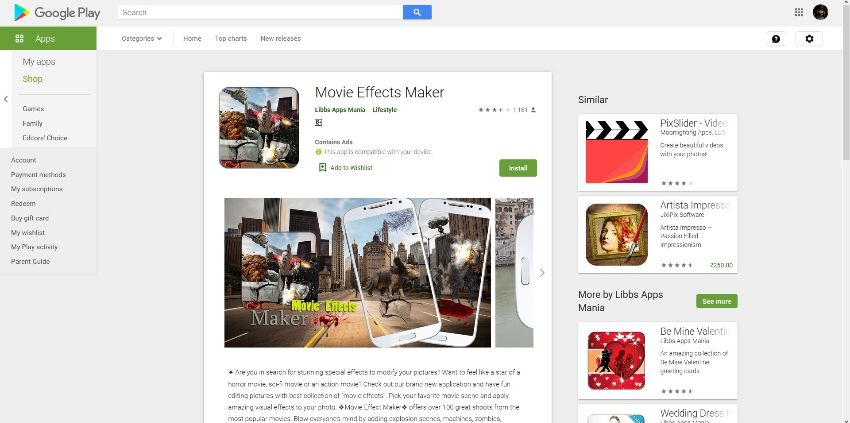 action movie  video effects apps for  Andorid - Movie Effects Maker
