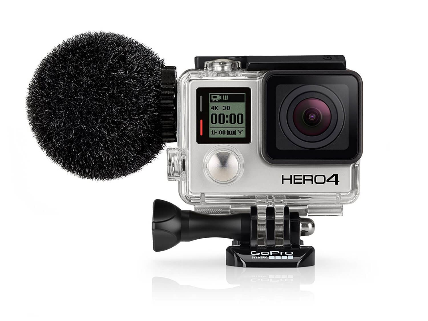 Best Waterproof Microphone: Sennheiser MKE 2 elements - Action Mic for the GoPro HERO4