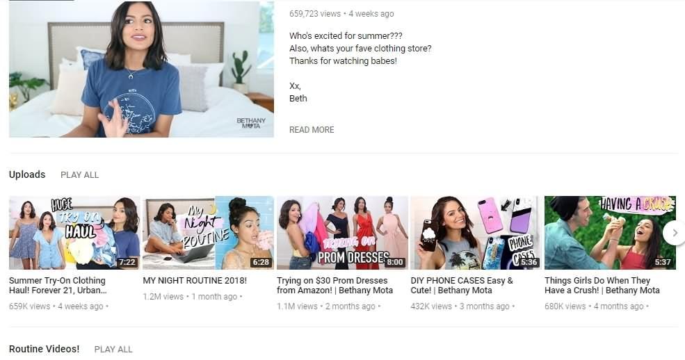 vlogger de belleza y moda popular
