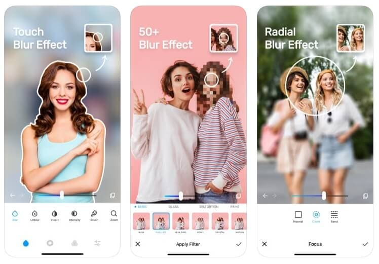 Blur Photo App for iOS