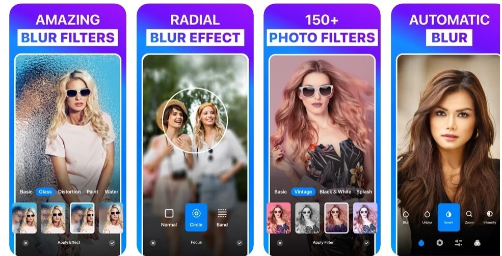add bokeh effects with  Blur Photo app