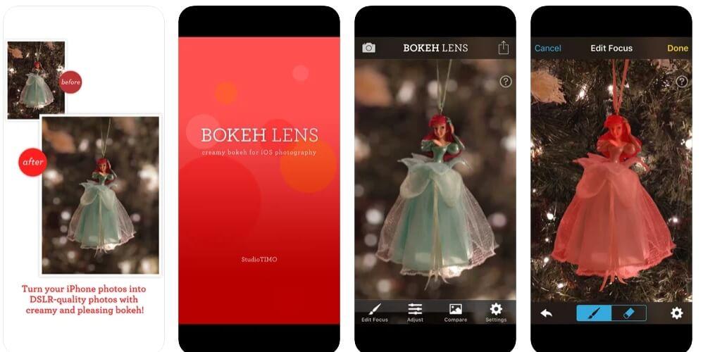 add  bokeh effects with  Bokeh Lens app