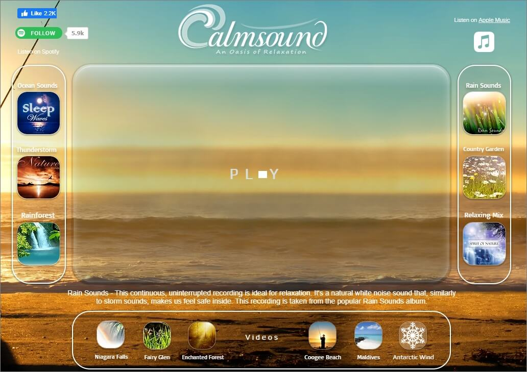 Calmsound nature sound effect download