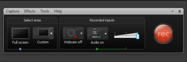 Camtasia Recording Interface