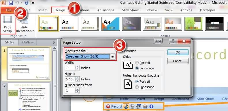 camtasia-powerpoint-settings-ratio