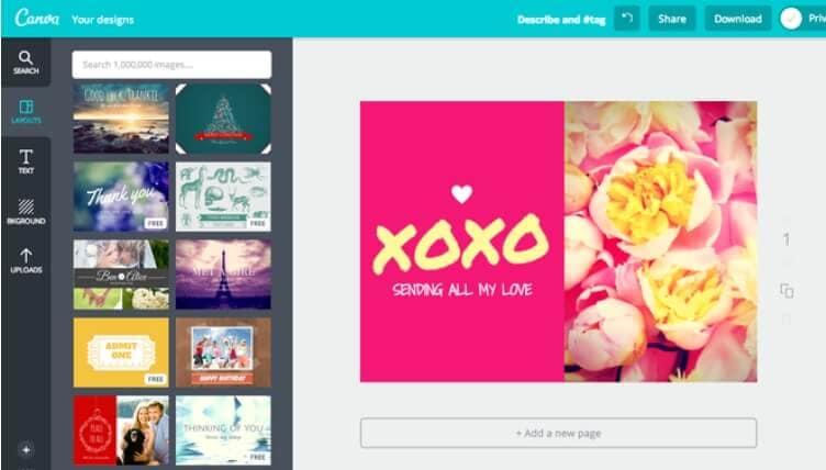 Criador de colagens de fotos online do Canva