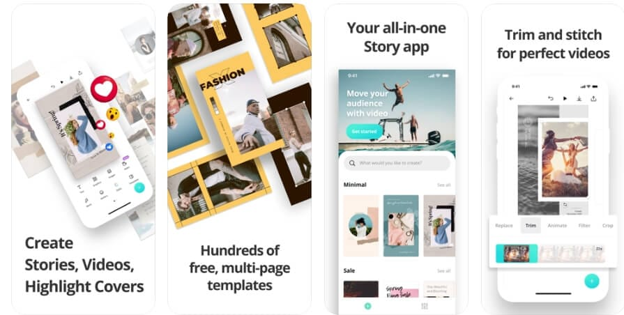 Trending Apps in 2019 for iPhone - Canva: Stories and Video Maker