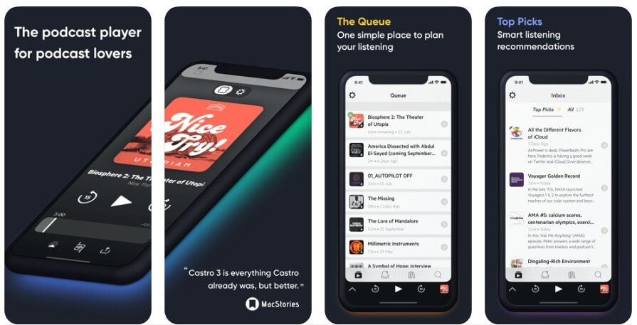 Best Podcast Player App - Castro Podcast Player