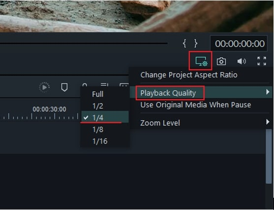 Change Filmora9 Playback Settings