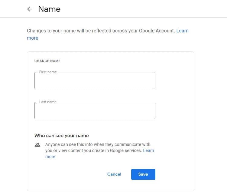Change Google Meet Name