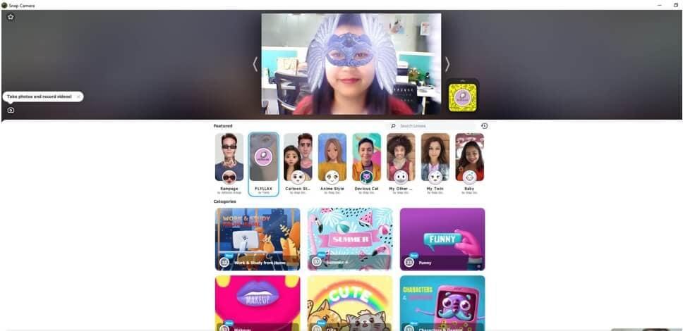 change Snap Camera Filter Zoom Meeting