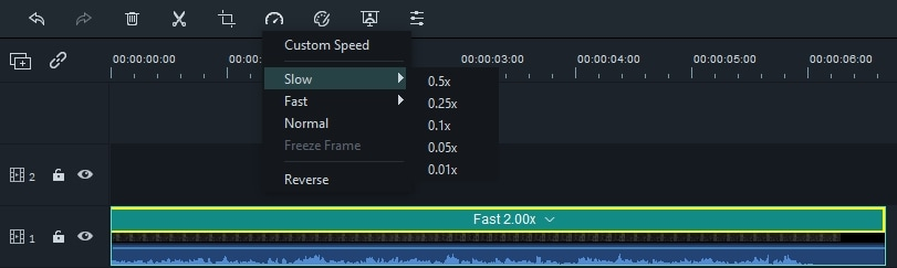 Change video Speed in Toolbar
