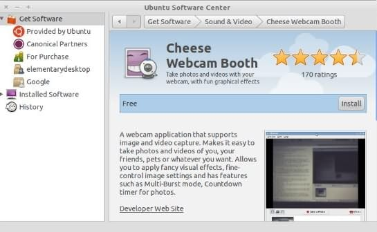 Cheese Webcam recording software