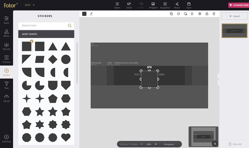 choose basic shapes