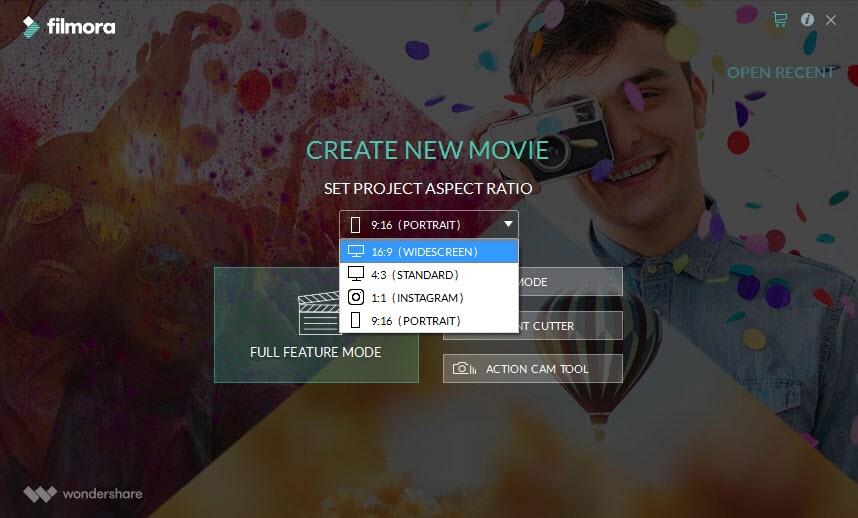 choose widescreen mode