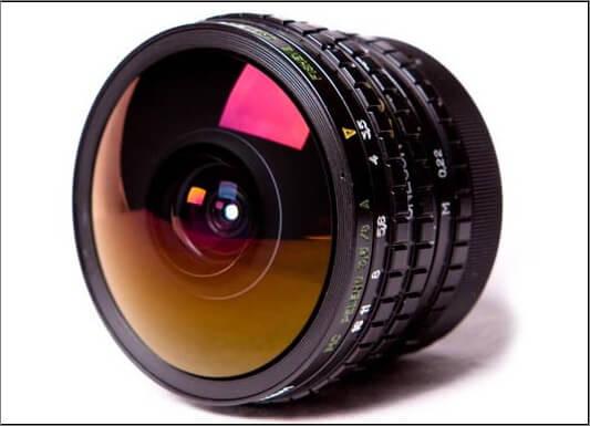 Tipo de lente ojo de pez