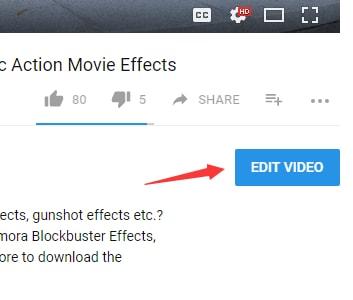 click edit video