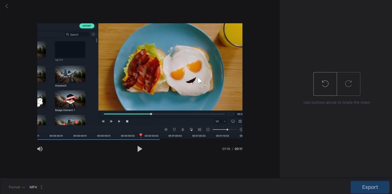 online video rotator - Clideo