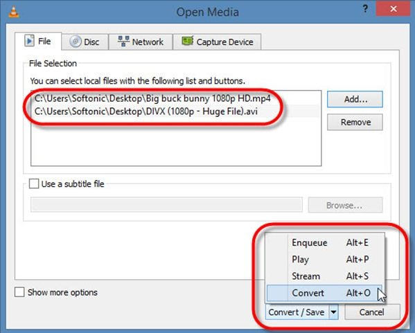 How to use VLC as converter to convert mp4 and other formats