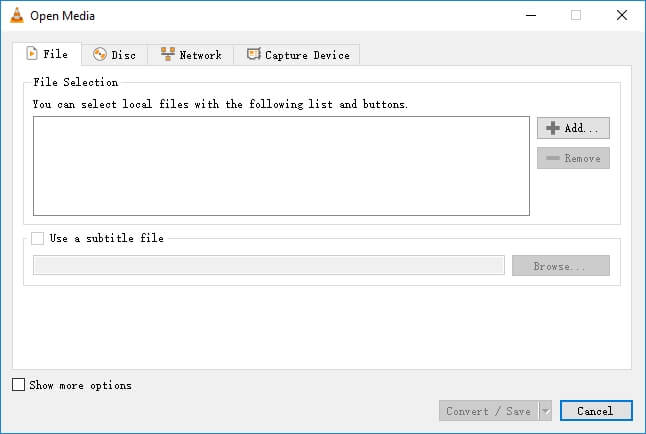 Convert WebM video to MP3 with VLC