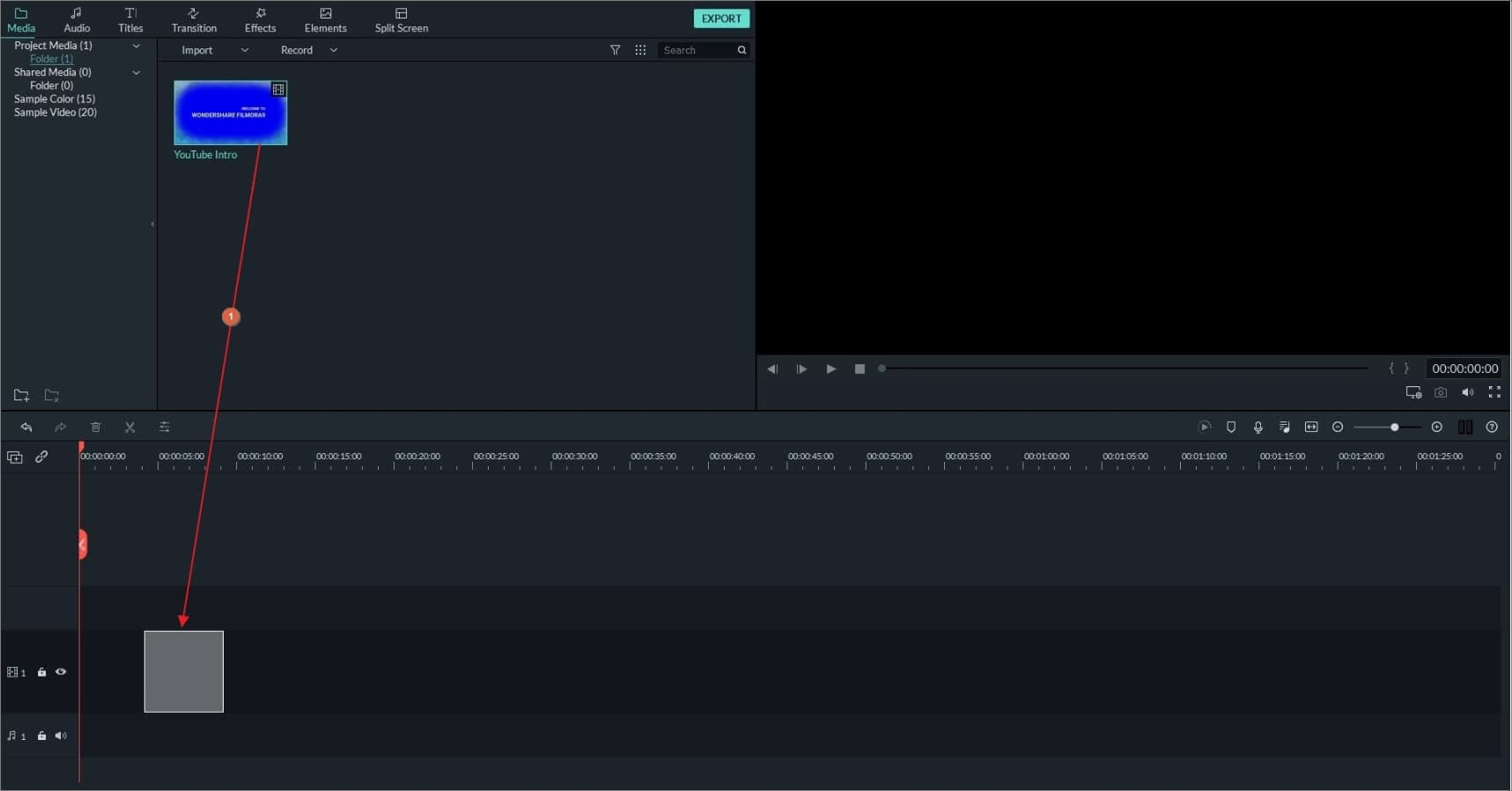 How to convert video to audio in Filmora- add to timeline