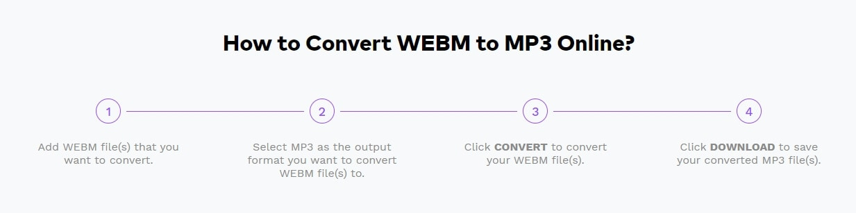 Convert WebM video to MP3 with Online UniConverter